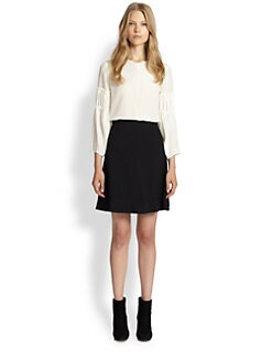 Chloe - Silk Gathered-Sleeve Blouse