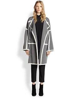 Chloe - Angora & Wool Blanket Coat