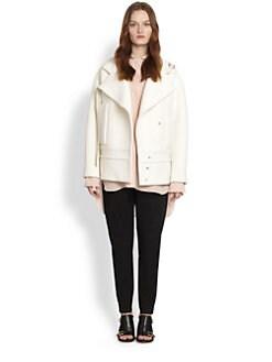 Chloe - Wool Biker Coat