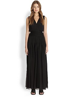 Chloe - Guipure Lace & Georgette Gown
