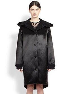 Stella McCartney - Oversized Hooded Satin Coat