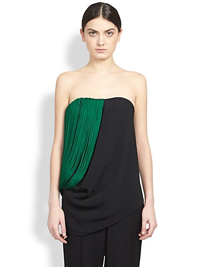 Strapless Fringe-Trimmed Top