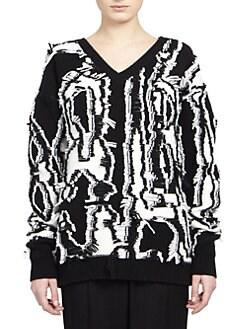 Stella McCartney - Shibori-Fringe Wool Sweater