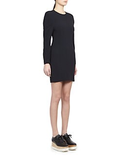 Stella McCartney - Cady Sculpted-Sleeve Dress