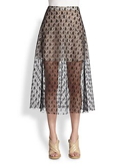 Stella McCartney - Lace A-Line Midi Skirt