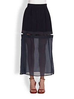 Stella McCartney - Sheer Bottom Long Skirt
