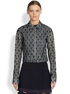 Stella McCartney - Lace Cropped Utility Jacket