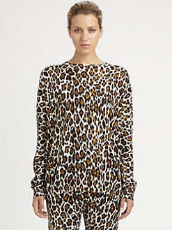Stella McCartney - Wool Leopard Print Sweater