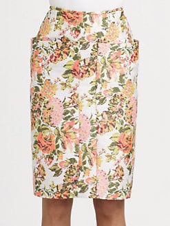 Stella McCartney - Floral Jacquard Skirt