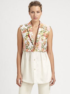 Stella McCartney - Floral Jacquard Vest