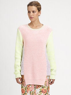 Stella McCartney - Rib-Knit Colorblock Pullover