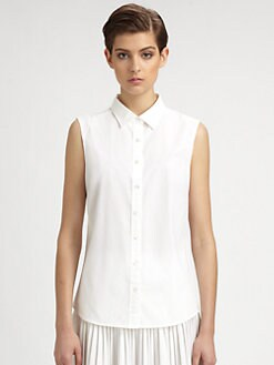 Stella McCartney - Sleeveless Poplin Blouse