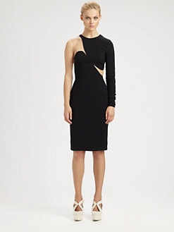 Stella McCartney - One-Sleeve Illusion Dress