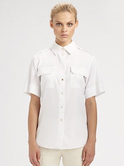 Stella McCartney - Short-Sleeve Button Front Blouse