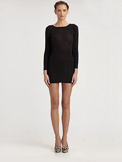 Stella McCartney - Fringe-Back Jersey Dress