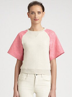 Stella McCartney - Jacquard-Sleeve Sweatshirt Top