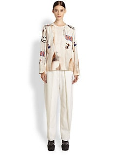 Stella McCartney - Silk Torn Tomboy Blouse