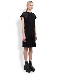 Stella McCartney - Lace-Trimmed Flare Dress