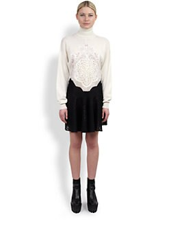 Stella McCartney - Two-Tone Knit & Lace Dress