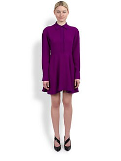 Stella McCartney - Stretch Cady Collared Dress