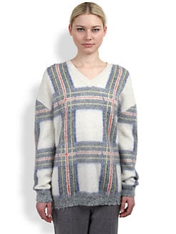 Stella McCartney - Plaid V-Neck Sweater