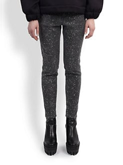 Stella McCartney - Splattered Paint-Print Denim Jeans