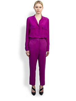 Stella McCartney - Ultraviolet Silk Blouse
