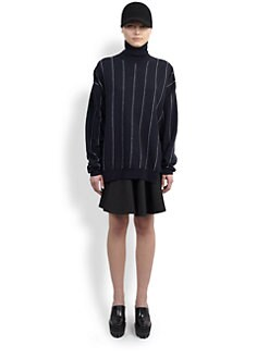 Stella McCartney - Pinstripe Turtleneck Sweater