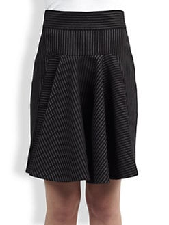 Stella McCartney - Pinstripe Flare Skirt