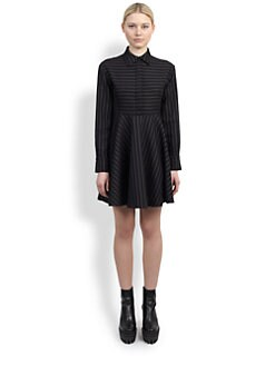 Stella McCartney - Pinstripe Flared Dress
