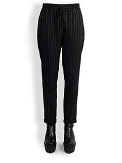 Stella McCartney - Pinstripe Drawstring Pants