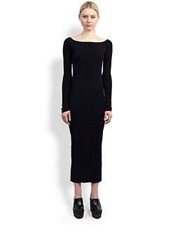 Stella McCartney - Off-The-Shoulder Boatneck Dress