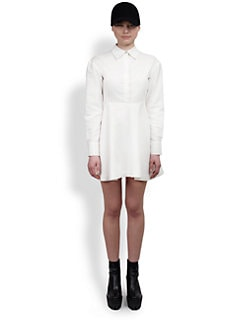Stella McCartney - Collared Cotton Piqué Shirtdress