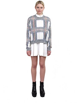 Stella McCartney - Plaid Crewneck Sweater