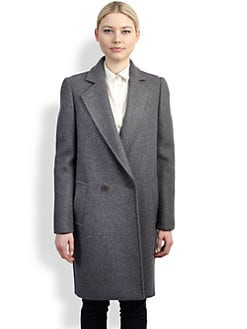 Stella McCartney - Two-Tone Felt Coat