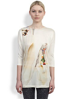 Stella McCartney - Printed Stretch Jersey Top