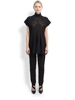 Stella McCartney - Embroidered Lace-Paneled Tunic Top