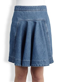Stella McCartney - Flared-Front Denim Skirt