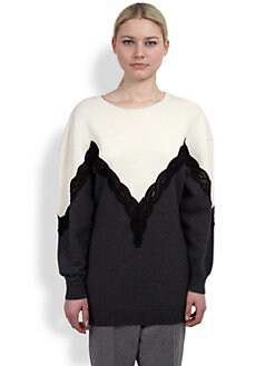 Stella McCartney - Bi-Color Lace Inset Sweater