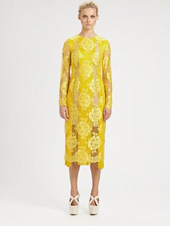 Stella McCartney - Fringe-Trimmed Lace Dress
