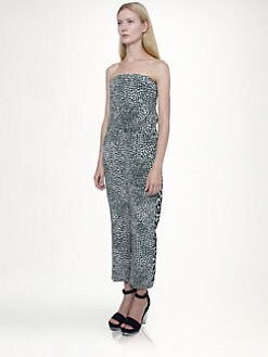 Stella McCartney - Silk Strapless Jumpsuit