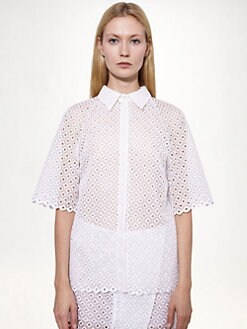Stella McCartney - Cutwork Embroidery Blouse