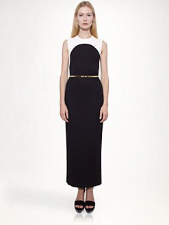 Stella McCartney - Long Bi-Color Dress
