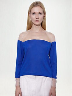 Stella McCartney - Mesh Inset Bi-Color Top
