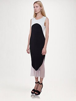 Stella McCartney - Bi-Color Pliss&eacute; Dress
