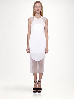 Stella McCartney - Elliptical Pliss&eacute; Dress