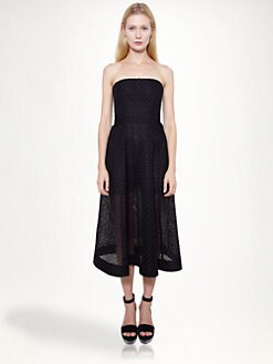 Stella McCartney - Cutwork Embroidery Strapless Dress