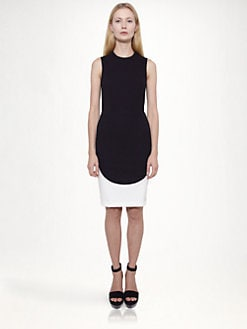 Stella McCartney - Sleeveless Bi-Color Dress
