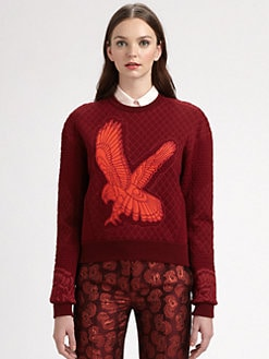 Stella McCartney - Quilted Eagle Sweatshirt