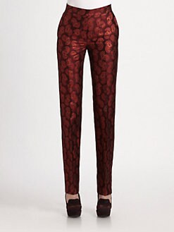 Stella McCartney - Paisley Brocade Straight-Leg Pants